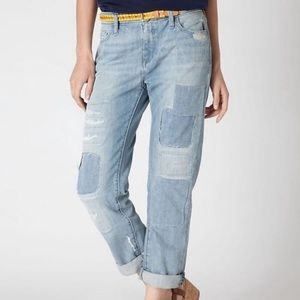 Anthropologie holding horses patchwork gable jeans